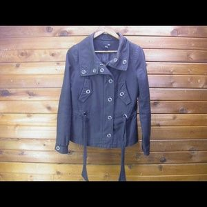 H & M Button and Zip Up Black Jacket - Size 4